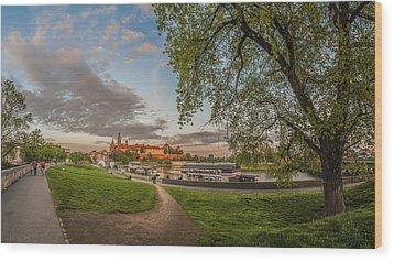 Wawel Royal Castle Seen From Vistula Bank In 16x9 Wood Print by Julis Simo