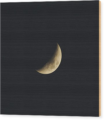 Waxing Crescent Spring 2017 Wood Print