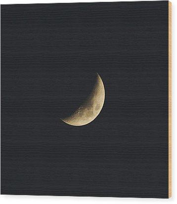 Waxing Crescent Spring 2017 Wood Print