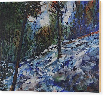 Wood Print featuring the painting Way Of The Mono Trail by Walter Fahmy