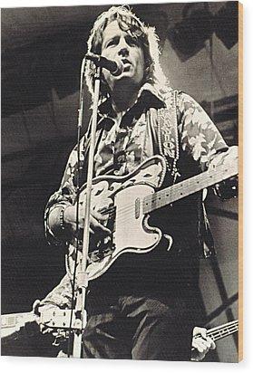 Waylon Jennings In Concert, C. 1974 Wood Print by Everett