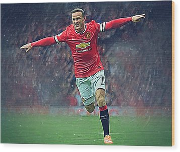 Wayne Rooney Wood Print by Semih Yurdabak