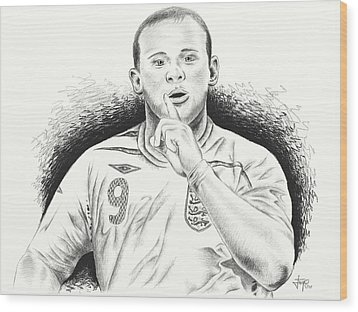 Wayne Rooney With Enggland Wood Print by Yudiono Putranto