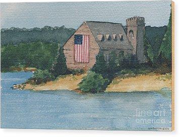 Wb Stone Church  Wood Print by Lynn Babineau