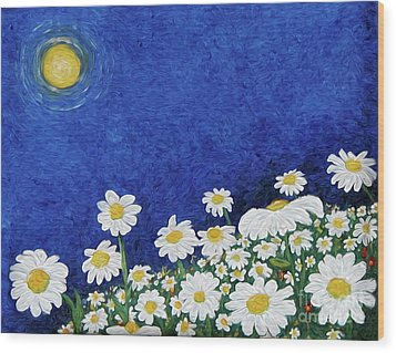 We Are Daisies Wood Print by Laura Brightwood