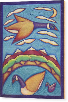 We Are Family Wood Print by Mary Anne Nagy
