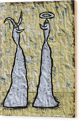 We Are Much Alike You And I Wood Print by Mario Perron