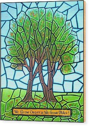 We Grow Closer As We Grow Older Wood Print by Jim Harris