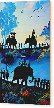 We March At Sunrise  Wood Print by Ian Gledhill