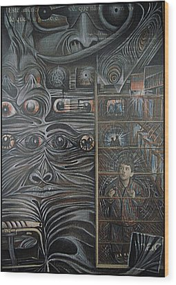 We Observed All The Time Wood Print by Paulo Zerbato