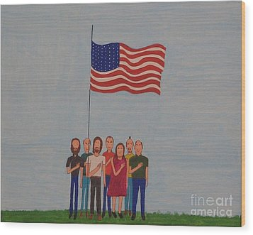 We Pledge Wood Print by Gregory Davis