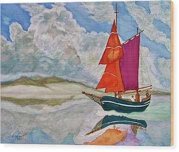 We Sailed Upon A Sea Of Glass Wood Print by Rand Swift