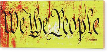 We The People Celebrate A Republic Artist Series Jgibney The Museum Wood Print by The MUSEUM Artist Series jGibney