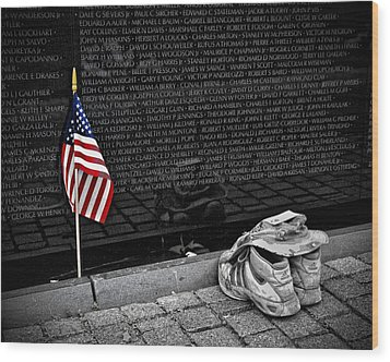 We Will Never Forget Them... Wood Print by Boyd Alexander