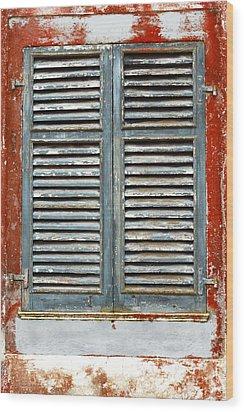 Weather-beaten Window Wood Print by Gaspar Avila