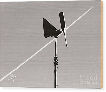 Weather Vane Wood Print by Linda Hollis