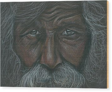 Weathered Aborigine Wood Print