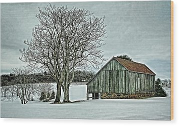 Weathered Wood Print by Heather Applegate