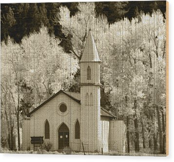 Weathered House Of Worship Wood Print by Kevin Munro