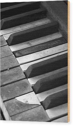 Weathered Music Wood Print