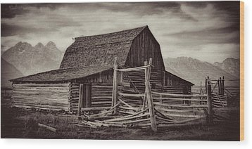 Wood Print featuring the photograph Weathered Peaks by Lana Trussell