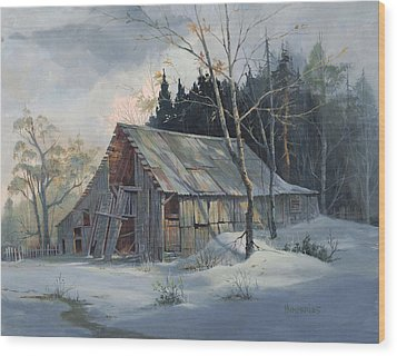 Weathered Sunrise Wood Print by Michael Humphries
