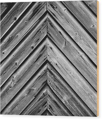 Weathered Wood Wood Print by Larry Carr