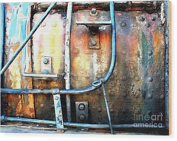 Wood Print featuring the photograph Weathering Steel - Rail Rust by Janine Riley