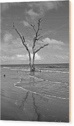 Weathering The Tide Wood Print by Donnie Smith