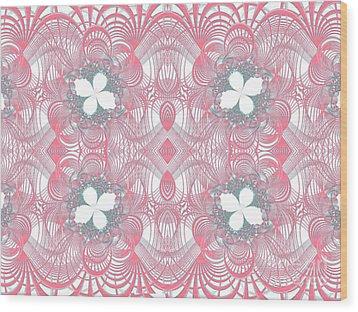 Web Of Threads 1 Wood Print by Ganesh Barad