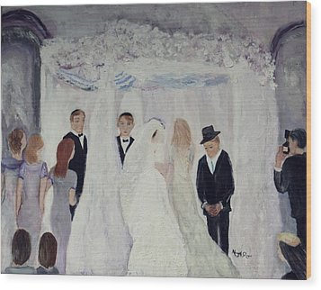Wedding Day Wood Print