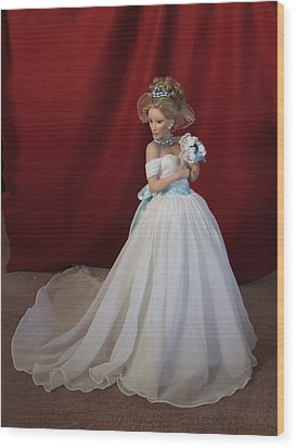 Wedding Gown Wood Print by Chuck Shafer