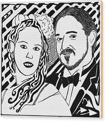 Wedding Maze Wood Print by Yonatan Frimer Maze Artist