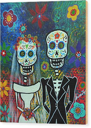 Wedding Muertos Wood Print