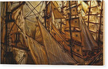 Wood Print featuring the photograph Wee Sails by Cameron Wood
