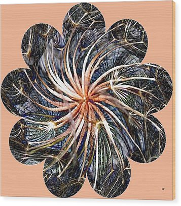 Weed Whirl Wood Print by Will Borden