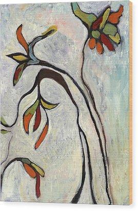 Weeds2 Wood Print by Michelle Spiziri