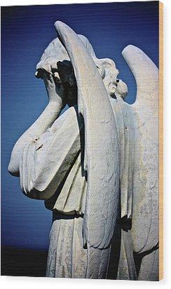 Weeping Angel Wood Print by KC Moffatt