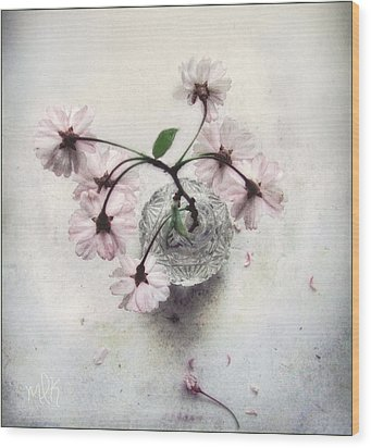 Wood Print featuring the photograph Weeping Cherry Blossoms Still Life by Louise Kumpf