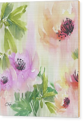 Wood Print featuring the painting Weeping Rose Forest by Colleen Taylor
