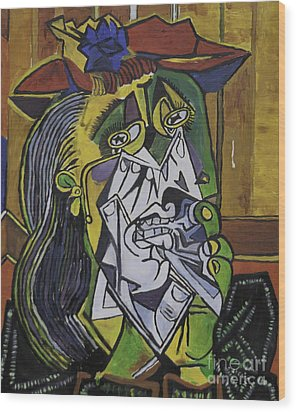 Picasso's Weeping Woman Wood Print