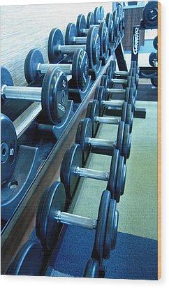 Weights Vertical Wood Print
