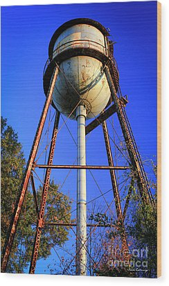 Wood Print featuring the photograph Weighty Water Cotton Mill  Water Tower Art by Reid Callaway