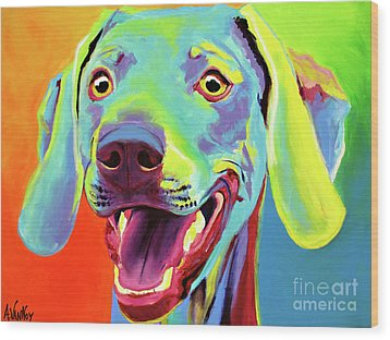 Weimaraner - Taffy Wood Print by Alicia VanNoy Call