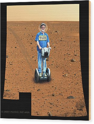 Welcom To Mars Wood Print