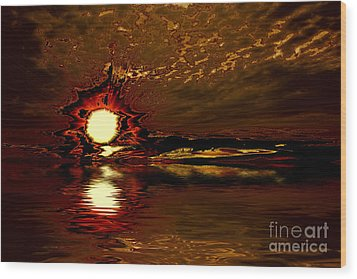 Welcome Beach Sunset 2 Series 1 Wood Print