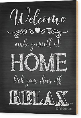 Wood Print featuring the digital art Welcome Home-a by Jean Plout