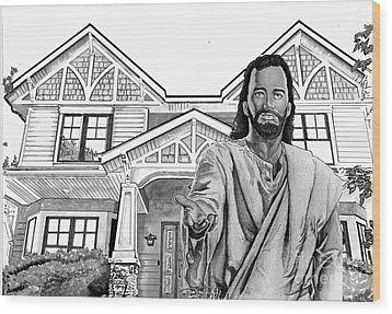 Welcome Home Wood Print by Bill Richards