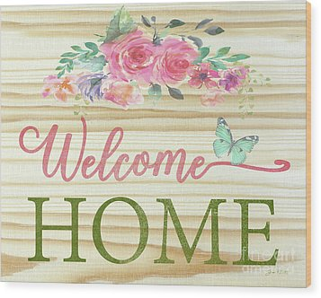 Wood Print featuring the digital art Welcome Home-c by Jean Plout