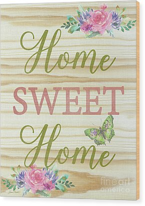 Wood Print featuring the digital art Welcome Home-d by Jean Plout